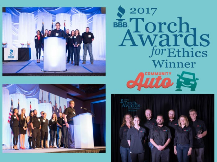Community Auto named Winner of BBB Torch Awards for Ethics